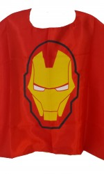 iron man cape red and yellow satin